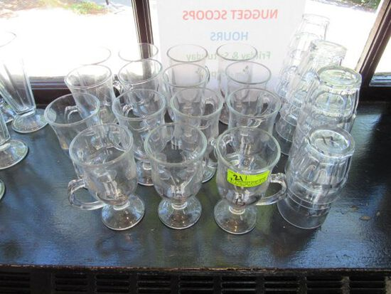 (15) Irish Coffees & (17) Juice Glasses