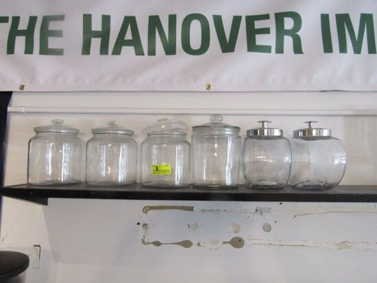 (6) Assorted Glass Canisters