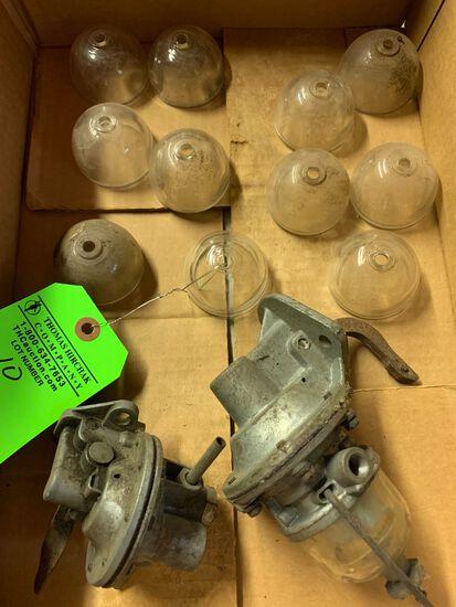 (11) Glass Fuel Bowls & (2) Carburetors
