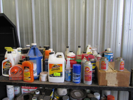 Lot of Vehicle & Equipment Cleaning Supplies