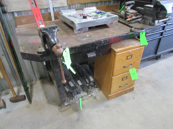"Workbench with Reed Mfg. 4"" Vise"