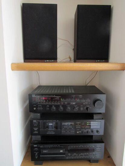 Yamaha Stereo System w/ (2) Polk Audio Speakers