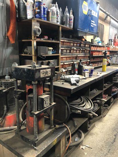 Gates Hydraulic Hose Crimper w/ Fittings & Accessories