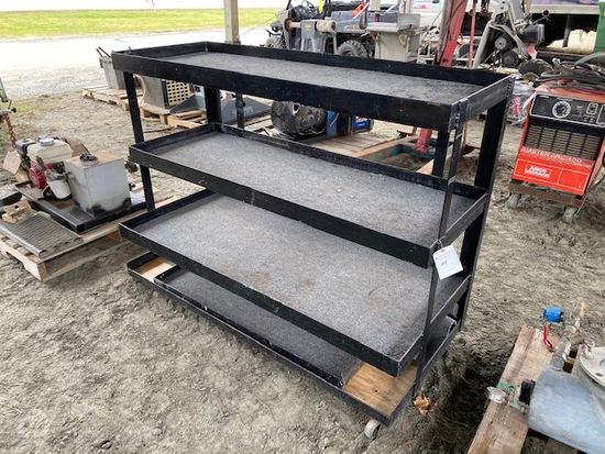 3-Tier Roll-Around Steel Shelf Unit