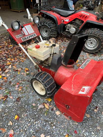 Snapper 1030 2 Stage Snow Blower