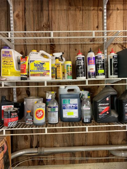 Quantity of Automotive Lubricants & Cleaning Agents