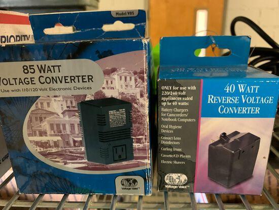 (2) 40 Watt Reverse Voltage Converter and 85 Watt Voltage Converter