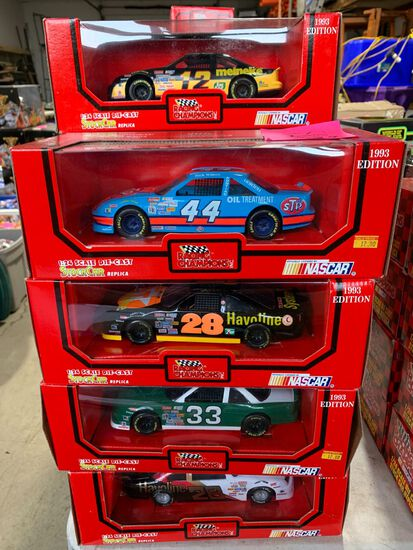 (9) Racing Champions 1:24 Scale Diecast Stock Car Replicas