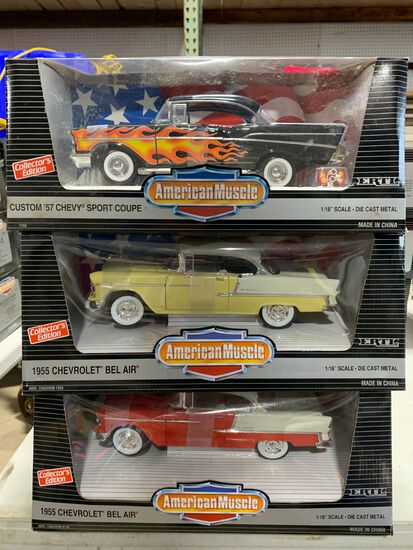 (6) American Muscle 1:18 Scale Diecast Cars
