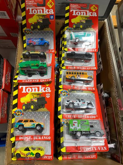(54+/-) Tonka 1:64 Scale Diecast Collection Cars