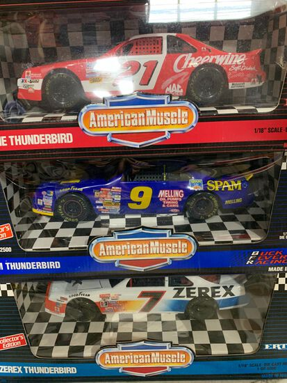 (7) American Muscle 1:18 Scale Diecast Cars