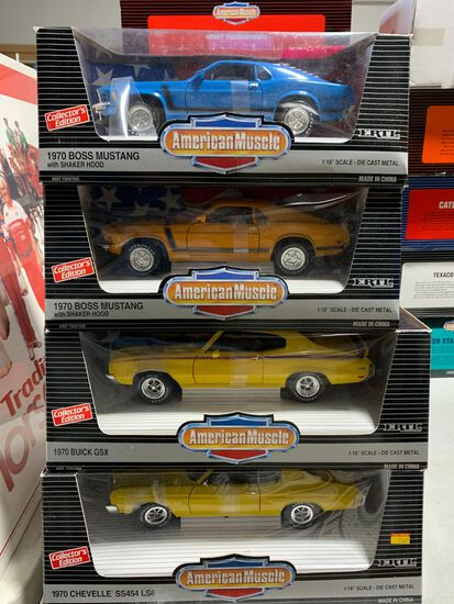 (4) American Muscle 1:18 Scale Diecast Cars