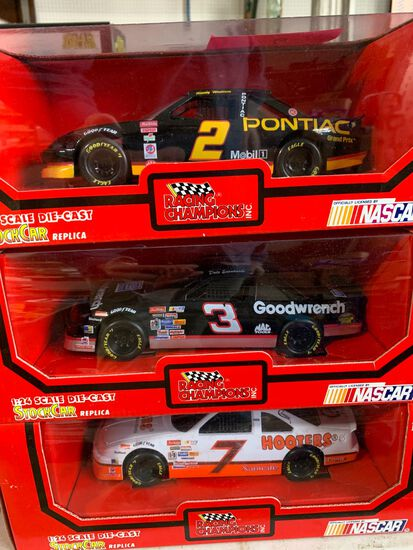 (6) Racing Champions 1:24 Scale Diecast Stock Car Replicas