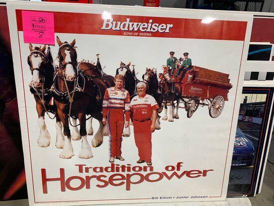 (8) Bill Elliott Racing Advertisement Posters on Board