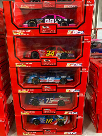 (11) Racing Champions 1:24 Scale Diecast Stock Car Replicas