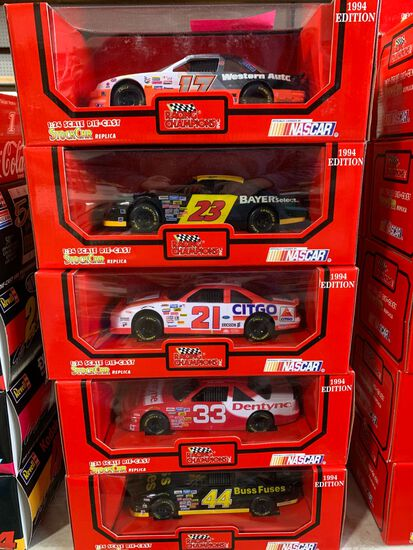 (10) Racing Champions 1:24 Scale Diecast Stock Car Replicas