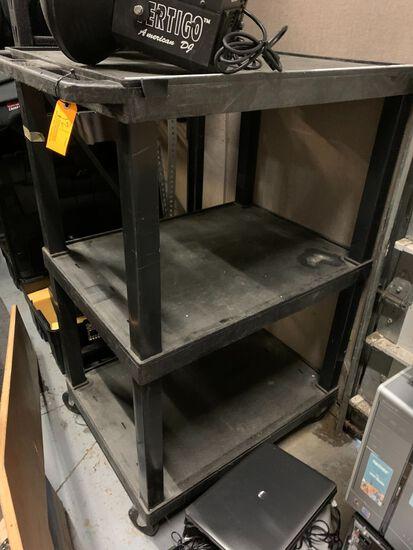 3-Tier Rolling Poly AV Cart