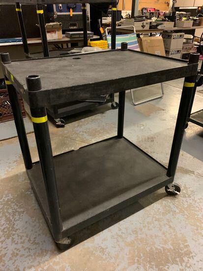 2-Tier Rolling Poly AV Cart