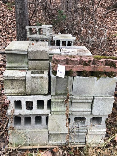 (2) Partial Pallets of Cement Blocks