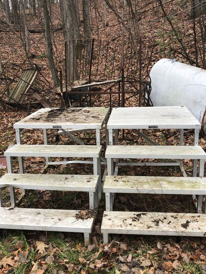 (3) Mobile Home Porch Steps