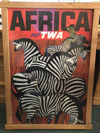 "Vintage TWA ""Africa / Fly TWA"" Travel Poster"