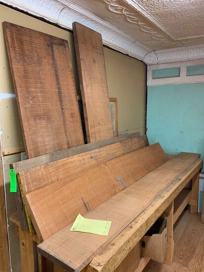 (5) Rough Mahogany Boards, approx. 56 BF