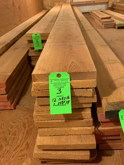 (13) Rough Cypress Boards, approx. 138 BF