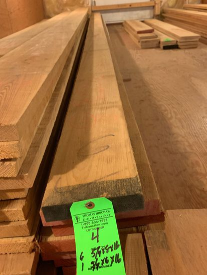 (7) Rough Cypress Boards, approx. 90 BF