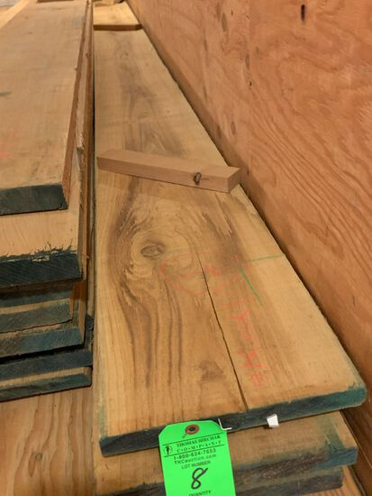 (4) Rough Cypress Boards, approx. 54 BF
