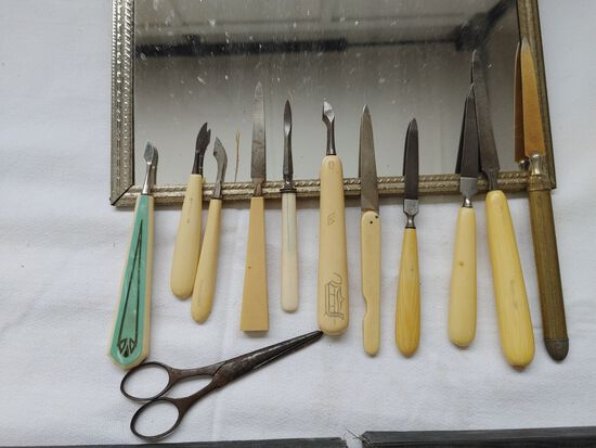 Celluloid Tools and Manicure Set