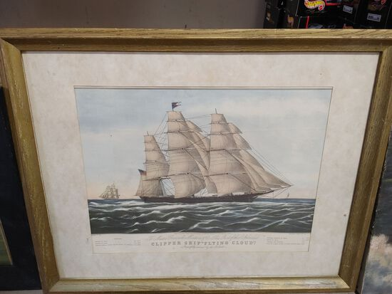 (3) Nautical and Nature Prints and Paintings
