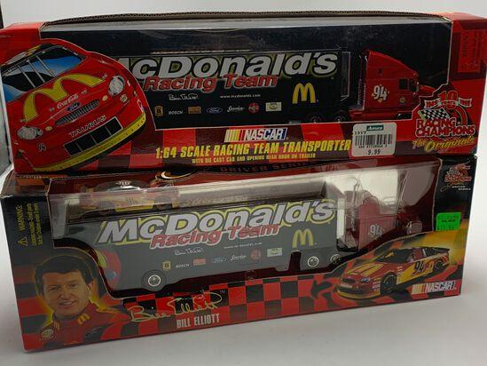 (4) Bill Elliott #94 McDonalds Hot Wheels Racing Champions