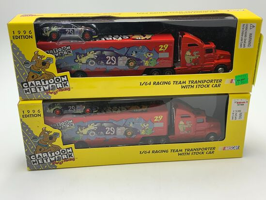 (2) 1996 #29 Team Transporter with Stock Car Racing Champions