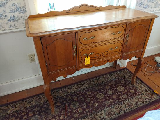 Maple Chippendale Style 2 Drawer 2 Door Sideboard