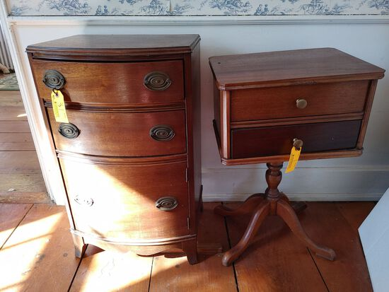 (2) Vintage Sewing Cabinets