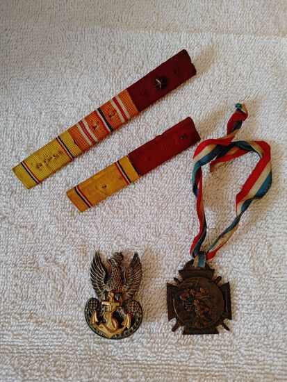 (4) Military & Other Ribbons & Medals