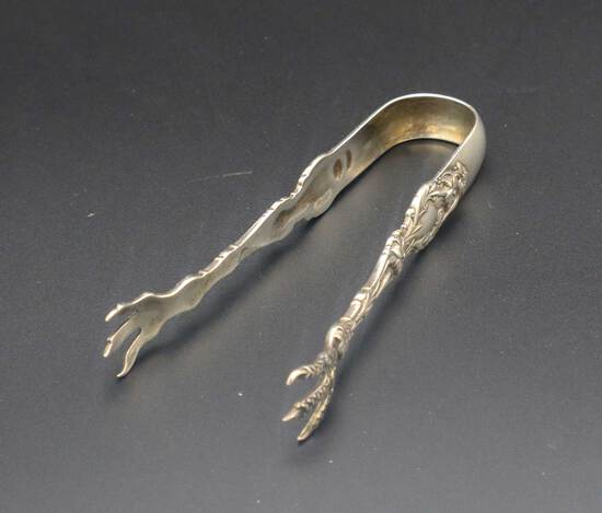 Gorham-Whiting Lily Pattern Sterling Silver Sugar Tongs