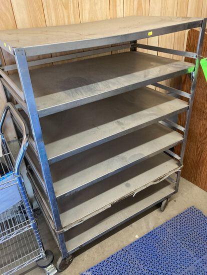 6-Tier Stainless Steel Roll-Around Cart