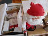 (2) Danbury Mint Figurines Santa & Mrs. Claus