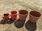 (4) Large Planters