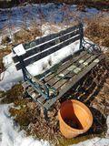 Metal & Wood Bench