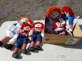 (5) Raggedy Ann & Andy Dolls