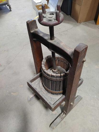 Antique #1 Grape/Fruit Press