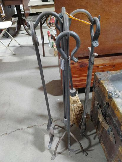 Hand Wrought Fireplace Tool Set