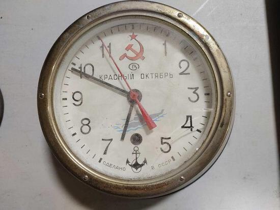 Vintage Soviet Ships Clock