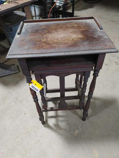 Child's Nesting Desk w/ Built-in Stool