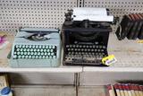 (2) Vintage Typewriter