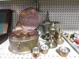 Asst. Copper / Brass Canisters & Servers