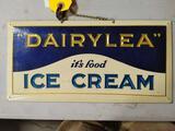 Vintage CRYSTOGLAS Dairylea Ice Cream Enamel Sign