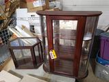 (2) Glass-Front Display Cabinets
